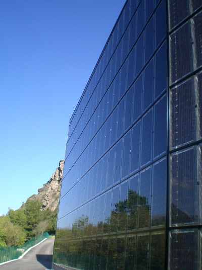 District heating plant BIPV façade system (Günther Wallnöfer)
