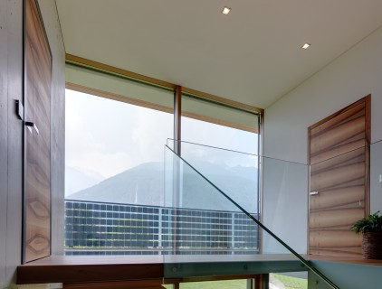 View of the photovoltaic railing from inside (building owner)