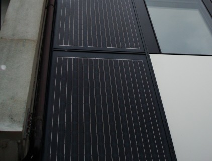 Detailed view of the monocrystalline modules (Eurac Research)
