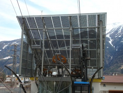 View of the downstream unit semi-transparent glass roof (Eurac Research)