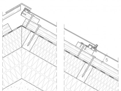 Technical detail of the roof bearing structure, re-drawn by Eurac (Leitner Electro Srl)