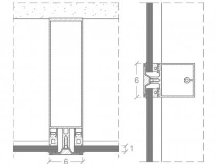 Technical detail of Schüco ventilated façade system, re-drawn by Eurac (Schüco International Italia Srl)