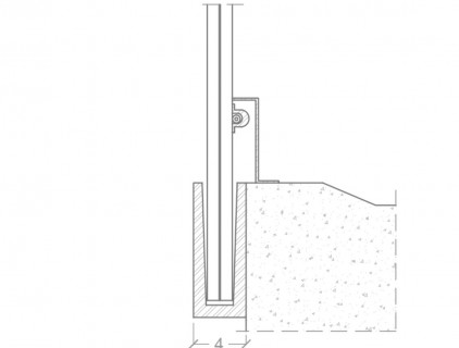 Technical detail of the 'Q railing' mounting system, re-drawn by Eurac (building owner)