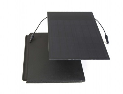 Two parts of BiSolar solar roof tile